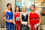 Enjoying the Rathmore Debs at Ballyroe Heights Hotel on Tuesday were l-r  Caoimhe O'Brien, Sarah Herlihy, Kate Leader and Miriam Dineen