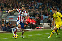 Atletico de Madrid´s Juanfran and Villarreal´s Denis Cheryshev during 2014-15 La Liga match between Atletico de Madrid and Villarreal at Vicente Calderon stadium in Madrid, Spain. December 14, 2014. (ALTERPHOTOS/Luis Fernandez) /NortePhoto