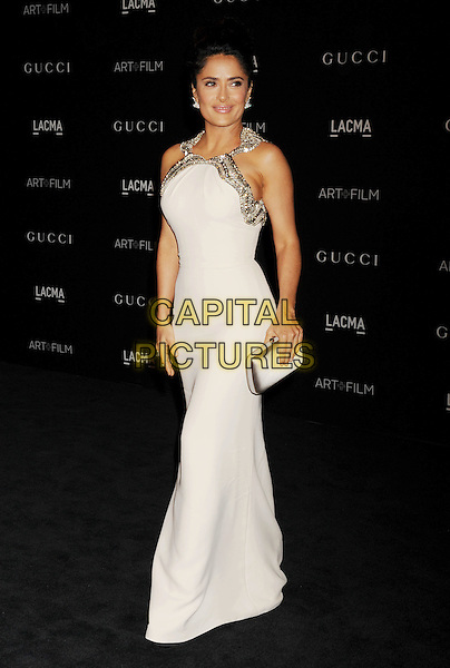 LOS ANGELES, CA - NOVEMBER 01: Actress Salma Hayek attends the 2014 LACMA Art + Film Gala honoring Barbara Kruger and Quentin Tarantino presented by Gucci at LACMA on November 1, 2014 in Los Angeles, California.<br /> CAP/ROT/TM<br /> &copy;Tony Michaels/Roth Stock/Capital Pictures