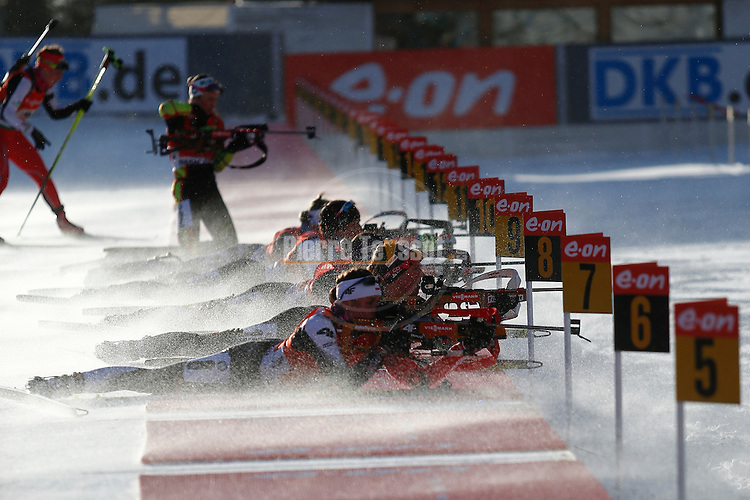 25/01/2015, Anterselva - Antholz - IBU Biathlon World Cup 2015 - Antholz -   Anterselva - Italy<br />  competes at the relay in Anterselva - Antholz, Italy on 25/01/2015. Germany's team with Franziska Hidelbrand, Franziska Preuss, Luise Kummer and Laura Dahlmeier wins.