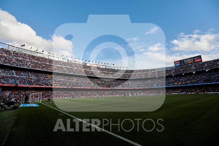 FC Barcelona's Camp Nou stadium during La Liga match between FC Barcelona and Real Madrid at Camp Nou Stadium in Barcelona, Spain. October 28, 2018. (ALTERPHOTOS/A. Perez Meca)