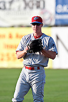 May 6 2010: Brian Gump (16) of the Clearwater Threshers during a game vs. the Daytona Cubs at Jackie Robinson Ballpark in Daytona Beach, Florida. Clearwater, the Florida State League High-A affiliate of the Philadelphia Phillies, won the game against Daytona, affiliate of the Chicago Cubs, by the score of 4-1.  Photo By Scott Jontes/Four Seam Images