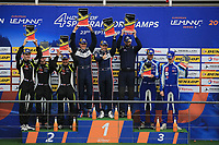 #2 UNITED AUTOSPORTS (USA) LIGIER JS P3 NISSAN LMP3 JOHN FALB (USA) SCOTT ANDREWS (AUS) WINNER LMP3<br /> #15 RLR MSPORT (GBR) LIGIER JS P3 NISSAN LMP3 JOHN FARANO (CAN) JOB VAN UITERT (NLD) ROBERT GAROFALL (GBR) SECOND LMP3<br /> #6 360 RACING (GBR) LIGIER JS P3 NISSAN LMP3 TERRENCE WOODWARD (GBR) ROSS KAISER (GBR) JAMES SWIFT (GBR) THIRD LMP3