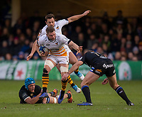 Wasps' Thomas Young in action during todays match<br /> <br /> Photographer Bob Bradford/CameraSport<br /> <br /> European Rugby Heineken Champions Cup Pool 1 - Bath Rugby v Wasps - Saturday 12th January 2019 - The Recreation Ground - Bath<br /> <br /> World Copyright &copy; 2019 CameraSport. All rights reserved. 43 Linden Ave. Countesthorpe. Leicester. England. LE8 5PG - Tel: +44 (0) 116 277 4147 - admin@camerasport.com - www.camerasport.com