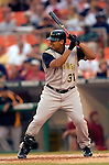 29 June 2005: Daryle Ward, first baseman for the Pittsburgh Pirates, at bat during a game against the Washington Nationals. The Nationals rallied to defeat the Pirates 3-2 in a rain delayed game at RFK Stadium in Washington, DC.  Mandatory Photo Credit: Ed Wolfstein