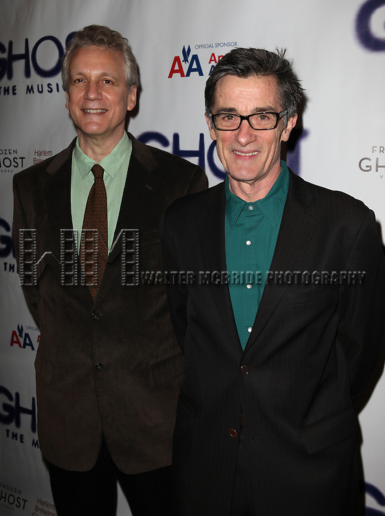 Rick Elice & Roger Rees.attending the Broadway Opening Night Performance of 'GHOST' a the Lunt-Fontanne Theater on 4/23/2012 in New York City. © Walter McBride/WM Photography .