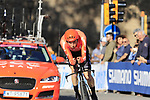 Laurens Ten Dam (NED) CCC Team in action during Stage 1 of the 2019 Giro d'Italia, an individual time trial running 8km from Bologna to the Sanctuary of San Luca, Bologna, Italy. 11th May 2019.<br /> Picture: Eoin Clarke | Cyclefile<br /> <br /> All photos usage must carry mandatory copyright credit (© Cyclefile | Eoin Clarke)