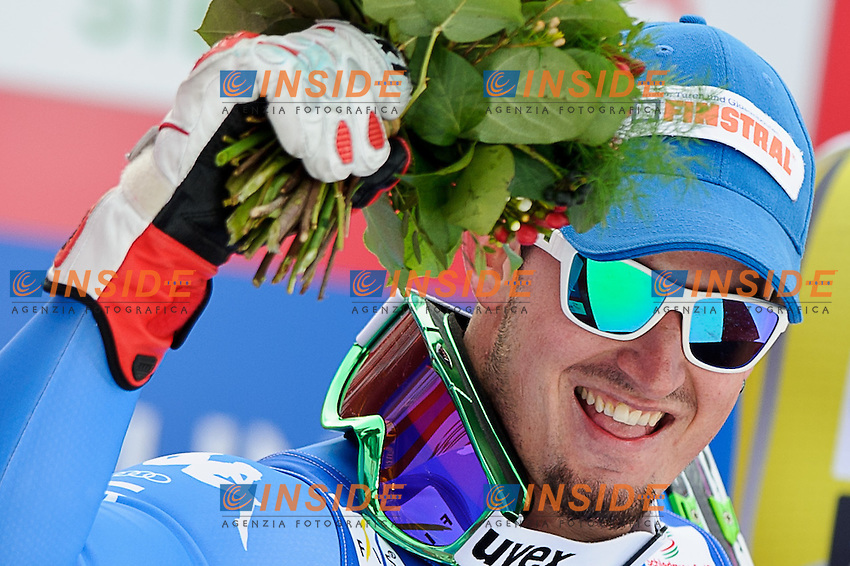 09.02.2013, Planai, Schladming, AUT, FIS Weltmeisterschaften Ski Alpin, Abfahrt, Herren, im Bild Dominik Paris (ITA, 2. Platz) // 2nd place Dominik Paris of Italy after Mens Downhill at the FIS Ski World Championships 2013 at the Planai Course, Schladming, Austria on 2013/02/09. EXPA Pictures © 2013, PhotoCredit: EXPA/ Sandro Zangrando .Schladming 9/2/2013 .Mondiali Sci 2013.Discesa Libera Uomini .Foto Insidefoto - ITALY ONLY