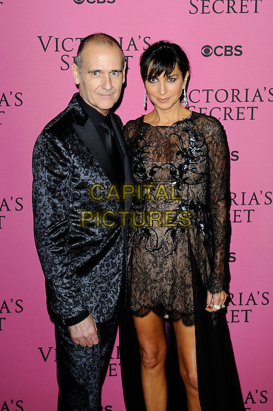 LONDON, ENGLAND - DECEMBER 2: Nigel Curtis and Monica Mitro attend the pink carpet for Victoria's Secret Fashion Show 2014, Earls Court on December 2, 2014 in London, England.<br /> CAP/MAR<br /> &copy; Martin Harris/Capital Pictures