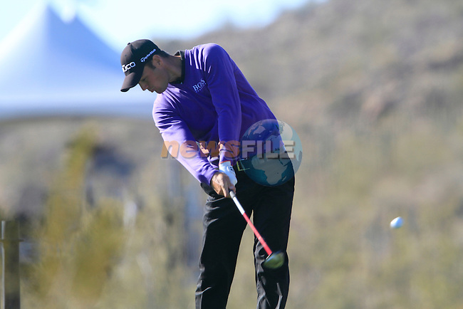 Martin Kaymer (GER) in action on the 18th hole during Day 2 of the Accenture Match Play Championship from The Ritz-Carlton Golf Club, Dove Mountain, Thursday 24th February 2011. (Photo Eoin Clarke/golffile.ie)