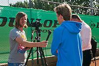 August 9, 2014, Netherlands, Rotterdam, TV Victoria, Tennis, National Junior Championships, NJK, Winner boys 14 years Alec Deckers is being interviewd by TennisTV<br /> Photo: Tennisimages/Henk Koster