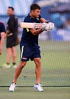 Marcus Stoinis takes batting practice for Kent during the Vitality Blast T20 game between Kent Spitfires and Sussex Sharks at the St Lawrence Ground, Canterbury, on Fri July 27, 2018
