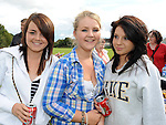 Amy Washington, Danielle Rooney and Laura Magee pictured at Moneymore sports day. Photo: www.pressphotos.ie