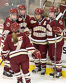 Dru Burns (BC - 7), Jackie Young (BC - 25), Ashley Motherwell (BC - 18), Mary Restuccia (BC - 22), Taylor Wasylk (BC - 9) - The visiting University of Maine Black Bears defeated the Boston College Eagles 5-2 on Sunday, October 30, 2011, at Kelley Rink in Conte Forum in Chestnut Hill, Massachusetts.