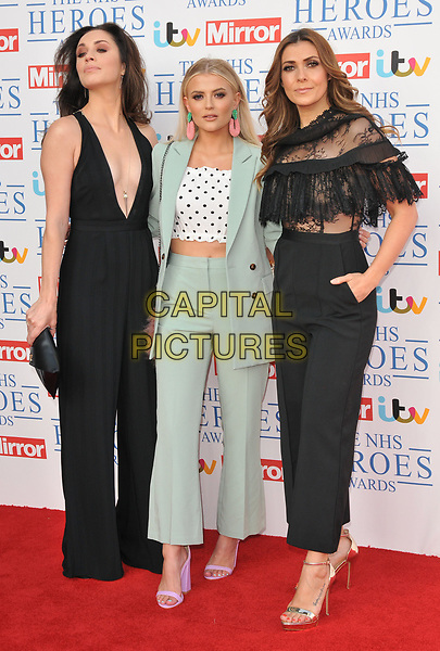 Julia Goulding, Lucy Fallon and Kym Marsh at the NHS Heroes Awards 2018, London Hilton on Park Lane Hotel, Park Lane, London, England, UK, on Monday 14 May 2018.<br /> CAP/CAN<br /> &copy;CAN/Capital Pictures