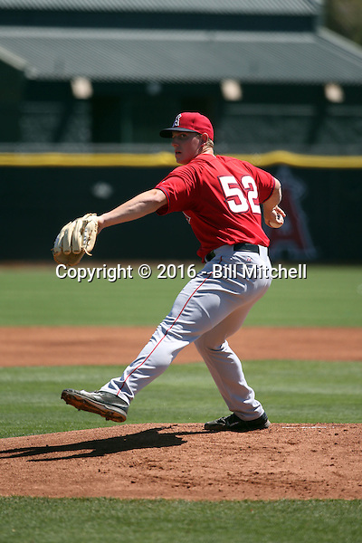 Jeremy Rhoades - Los Angeles Angels 2016 spring training (Bill Mitchell)
