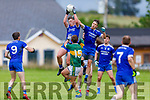 Colm Moriarty of Annascaul rises highest to gain possession against Knocknagoshel in the Kerry Junior Club Championship round 1 game on Sunday.
