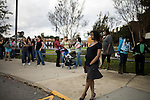 November 15, 2008. Fayetteville, NC..One thousand Army wives and active duty soldiers pregnant with what the locals call ?surge babies? were celebrated at the biggest military baby shower ever. These babies were conceived when.troops from the 82nd Airborne Division, deployed to Iraq for the surge of forces in January 2007, began returning home to Fort Bragg in November.. Shari Jonas, right, who is 8 months pregnant and a military spouse, waits for the doors to open. her husband, E-4 Mark Jonas, returned from a 15 month tour in iraq in February.