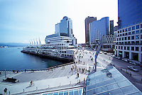 """Canada Place"" Trade and Convention Centre and Waterfront Centre, Downtown Vancouver, British Columbia, Canada, from New Convention and Exhibition Centre"