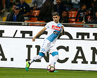 Elseid Hysaj  during the  italian serie a soccer match,between Inter FC  and SSC Napoli      at  the San Siro   stadium in Milan  Italy , April  30, 2017