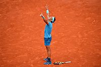 Rafael Nadal of Spain celebrates winning during Day 15 (Men's Final Day) of the French Open 2018 on June 10, 2018 in Paris, France. (Photo by Dave Winter/Icon Sport)