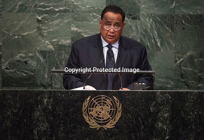 SUDAN<br /> H.E. lbrahim Ahman 'Abd al-Aziz GHANDOUR<br /> Minister for Foreign Affairs<br /> General Assembly 70th session 25th plenary meeting<br /> Continuation of the General Debate