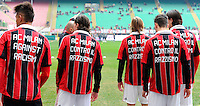 """Football: Italy, Serie A, AC Mailand, Mailand, 06.01.2013.players writing """"AC Milan against Racism"""" on his Shirt, Anti-Rassismus, Kevin Prince Boateng (left).©pixathlon .ITA AND FRA OUT !"""