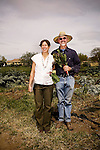 """DAVIS - APRIL 15: Husband and wife team Pamela Ronald, a plant geneticist, and Raoul Adamchak, a bio-gardener, co-authored """"Tomorrow's Table: Organic Farming, Genetic and the Future of Food,"""" at UC Davis, in Davis, Ca., on Friday, April 15, 2011."""