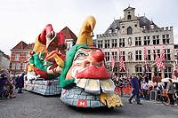 Nederland - Bergen op Zoom - 16 september 2018. BC D'Ekseketel, Zotte Dinsdag.  Op zondag 16 september 2018 vindt in Bergen op Zoom de Brabant Stoet plaats. Dit is een grootst opgezet festival van de lopende cultuur. Deze vorm van cultuur is kenmerkend voor Brabant. In de Brabant Stoet zijn zo'n honderd vormen van lopende (en rijdende) cultuur te zien zoals gilden, fanfares, steltlopers, reuzen, carnaval, ommegangen en praalwagens. De Brabant Stoet wordt samengesteld met groepen uit zowel Noord-Brabant als Vlaams- en Waals-Brabant.   Foto Berlinda van Dam / Hollandse Hoogte