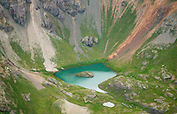 Island Lake between Pilot Knob and Ulysses S. Grant Peak, San Juan County, Colorado.  July 2013. 80506