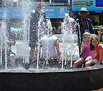 Fans try to stay cool at the Australian Open