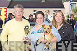 3RD PLACE: Noel Spillane judge of the Pet Show with 3rd place winner Samantha Spillane and Gretta Spillane at the Annascual Fair on Sunday.