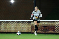 CHAPEL HILL, NC - NOVEMBER 16: Claudia Dickey #0 of the University of North Carolina during a game between Belmont and North Carolina at UNC Soccer and Lacrosse Stadium on November 16, 2019 in Chapel Hill, North Carolina.