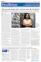 Die Presse (Austrian daily) on Chinese dissidents, 2012.10.15. Photo: Martin Fejer