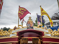 Henley Royal Regatta, Henley on Thames, Oxfordshire, 28 June - 2 July 2017.  Wednesday  11:56:44   28/06/2017  [Mandatory Credit/Intersport Images]<br /> <br /> Rowing, Henley Reach, Henley Royal Regatta.<br /> Details from The Royal Row Barge GLORIANA