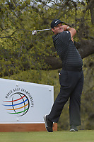 Patrick Reed (USA) watches his tee shot on 10 during day 3 of the World Golf Championships, Dell Match Play, Austin Country Club, Austin, Texas. 3/23/2018.<br /> Picture: Golffile | Ken Murray<br /> <br /> <br /> All photo usage must carry mandatory copyright credit (&copy; Golffile | Ken Murray)