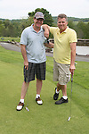 Guiding Light's Michael O'Leary and Robert Newman play golf on Sat. May 22 during We Love Soaps Weekend on  May 21 and May 22 2010 at Villa Roma Resort in Callicoon, New York. (Photo by Sue Coflin/Max Photos)