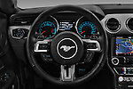 Car pictures of steering wheel view of a 2016 Ford Mustang EcoBoost 2 Door Coupe Steering Wheel