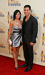 UNIVERSAL CITY, CA. - May 31: Actors Courtney Laine Mazza and Mario Lopez arrive at the 2009 MTV Movie Awards held at the Gibson Amphitheatre on May 31, 2009 in Universal City, California.