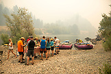 USA, Oregon, Wild and Scenic Rogue River in the Medford District, lunch at Wiskey Creek