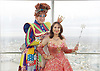 Dick Whittington <br /> publicity pictures <br /> taken from The View From The Shard, London Bridge Quarter, London, Great Britain <br /> press photocall <br /> 17th November 2016 <br /> <br /> <br /> Matthew Kelly as Sarah the Cook <br /> <br /> Arlene Phillips as Fairy Bowbells <br /> <br /> <br /> <br /> Photograph by Elliott Franks <br /> Image licensed to Elliott Franks Photography Services