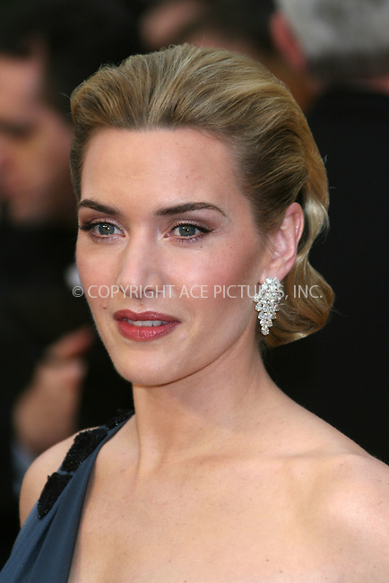 WWW.ACEPIXS.COM . . . . .  ....February 22, 2009. Hollywood, CA....Actress Kate Winslet arrives at the 81st Annual Academy Awards held at the Kodak Theater on February 22, 2009 in Hollywood, CA.......Please byline: Z09- ACEPIXS.COM.... *** ***..Ace Pictures, Inc:  ..Philip Vaughan (646) 769 0430..e-mail: info@acepixs.com..web: http://www.acepixs.com