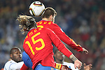 21 JUN 2010: Sergio Ramos (ESP) (15). The Spain National Team played the Honduras National Team at Ellis Park Stadium in Johannesburg, South Africa in a 2010 FIFA World Cup Group C match.