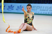 """Federica Febbo of Italy performs at 2011 World Cup Kiev, """"Deriugina Cup"""" in Kiev, Ukraine on May 7, 2011."""