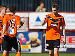 Jon Daly celebrates his third goal with provider Ryan Dow