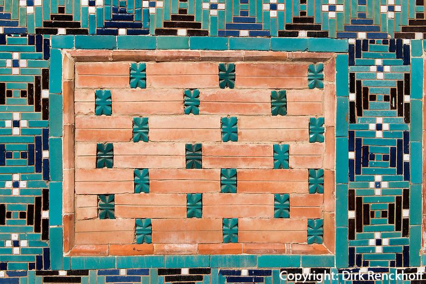 Gr&auml;berstra&szlig;e der Shohi Zinda-Nekropole, Samarkand, Usbekistan, Asien, UNESCO-Weltkulturerbe<br /> street of tombs in Shohi-Zinda nekropolis, Samarkand,  Uzbekistan, Asia, UNESCO heritage site