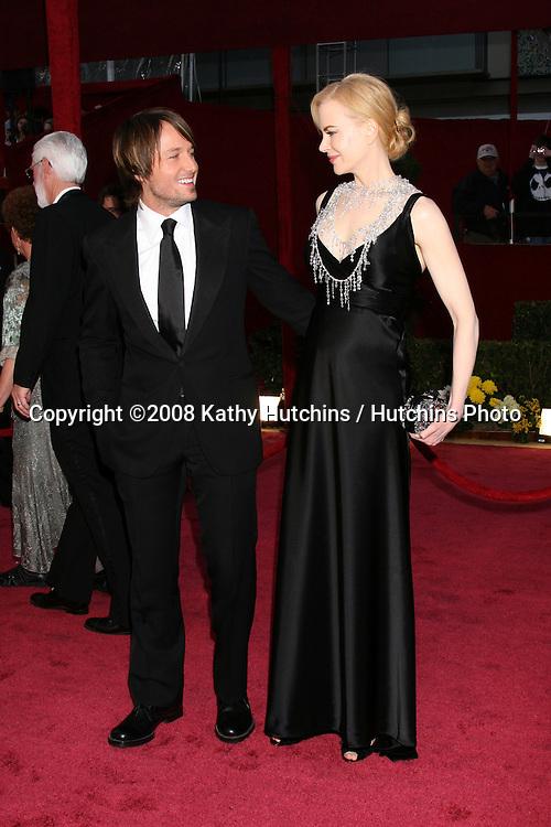 Keith Urban & Nicole Kidman.80th Academy Awards ( Oscars).Kodak Theater.Los Angeles, CA.February 24, 2008.©2008 Kathy Hutchins / Hutchins Photo.