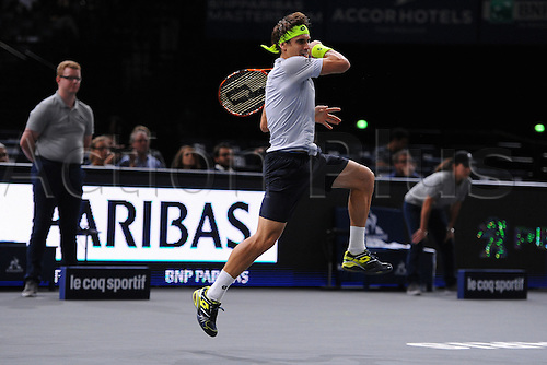 06.11.2015. Paris, France BNP Paribas Master Tennis, Bercy. Quarterfinls match between Ferrer and Isner.  David Ferrer (ESP)