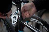 pre race bike prepping. <br /> <br /> 3th Liège-Bastogne-Liège-Femmes 2019 (1.WWT)<br /> 1 Day Race: Bastogne – Liège 138,5km<br /> <br /> ©kramon