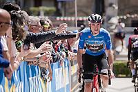 Maglia Azzurra / KOM leader Giulio Ciccone (ITA/Trek-Segafredo) at the race start in Vasto<br /> <br /> Stage 7: Vasto to L'Aquila (180km)<br /> 102nd Giro d'Italia 2019<br /> <br /> ©kramon